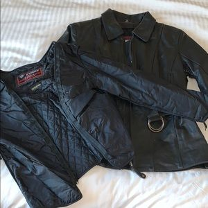 Leather Motorcycle Jacket & Insulation Layer